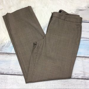 Talbots Signature brown patterned pants size 6